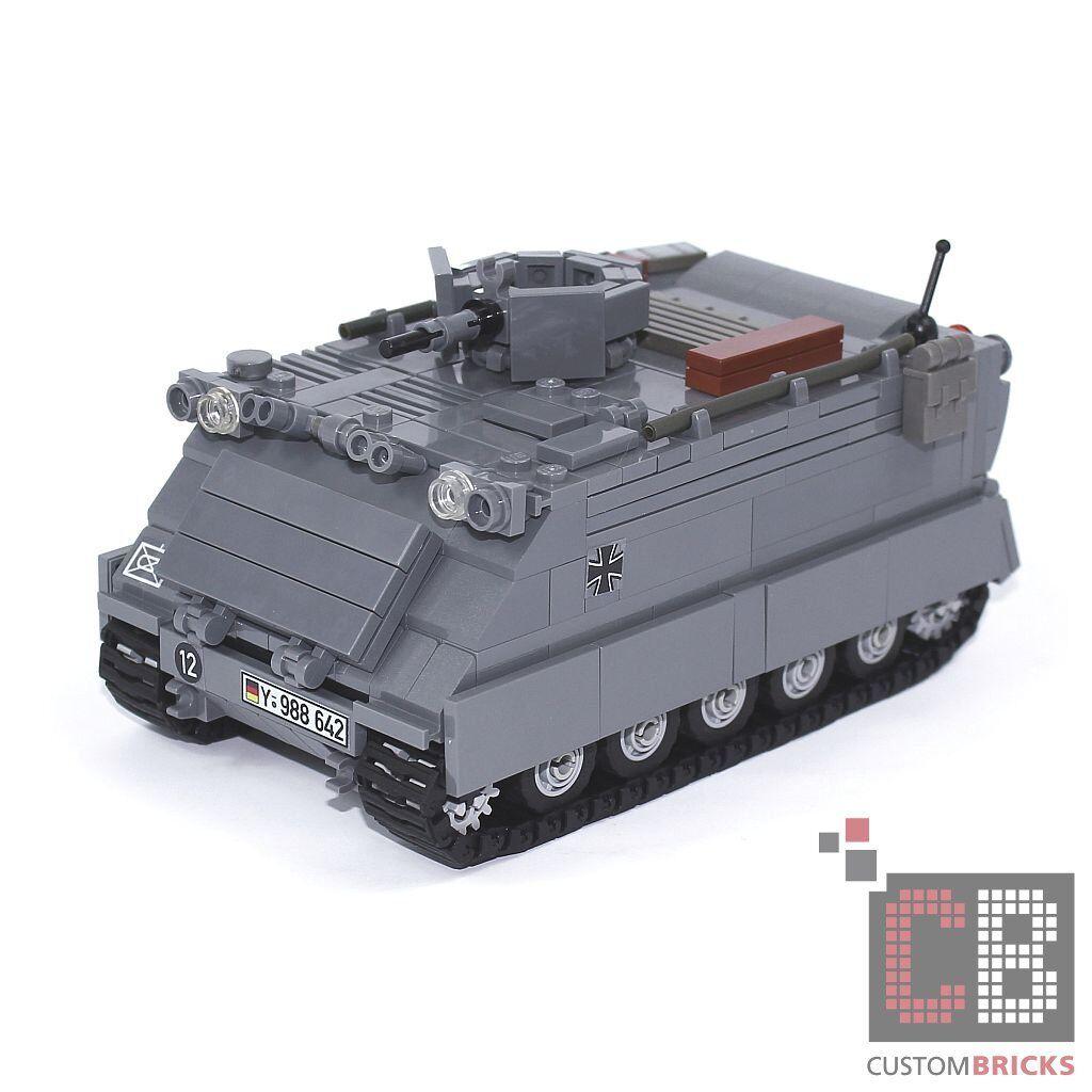CB CUSTOM Bundeswehr MBT MTW M113 Panzer Kettenfahrzeug aus LEGO® Steinen - grau
