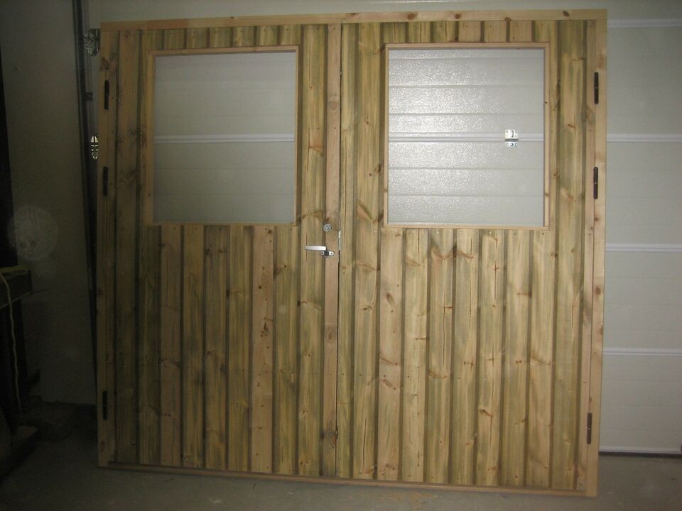 Garageport, træ, b: 250 h: 210