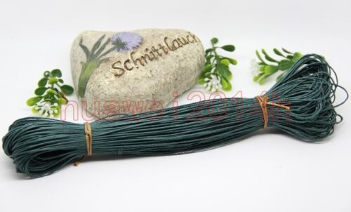80Meter Waxed Cotton Cord Various Colours Lengths Available Jewelry Making 1-2mm