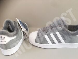 ADIDAS SUPERSTAR WOMEN'S DB2516 GREY FUR