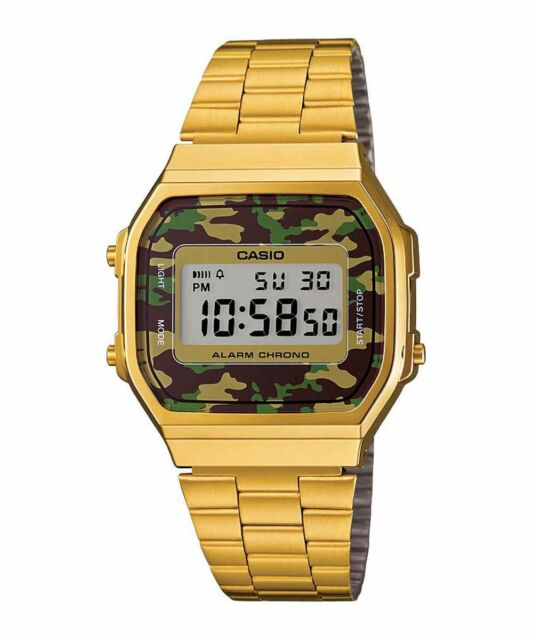 New Caso Gold DIgital Alarm Unisex Latest Watch A168WEGC-3DF
