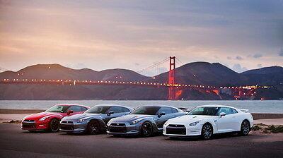 "34 Nissan GT-R GTR - Super Sports Racing Car 25""x14"" Poster"