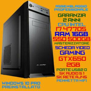COMPUTER-ASSEMBLATO-PC-FISSO-INTEL-i7-4770S-RAM-16GB-SSD500GB-DVDRW-GTX650-2GB