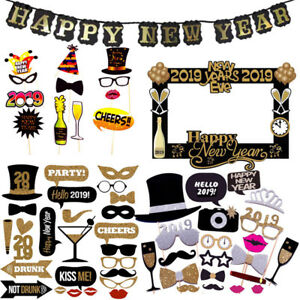 2019-Happy-New-Year-Eve-Photo-Booth-Props-Selfie-Photography-Favour-Party-Decor