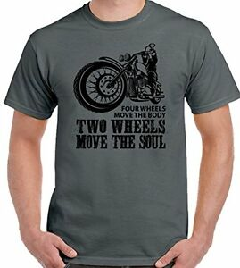 Two-wheels-move-the-soul-Herren-lustige-Biker-T-Shirt-Indian-Motorcycle-Motorrad