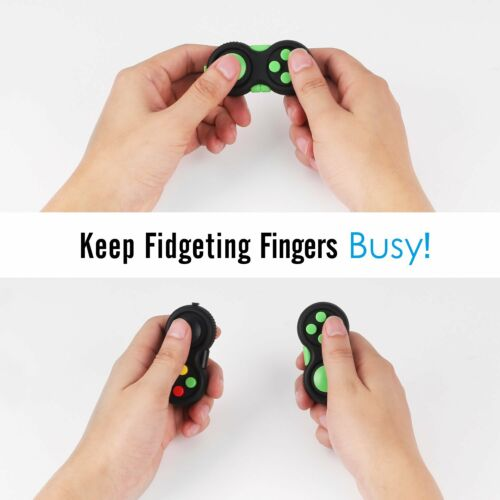 ATiC 2 Pack Fidget Controller Pad Stress Reducer Classic Game Pad Hand Shank Toy