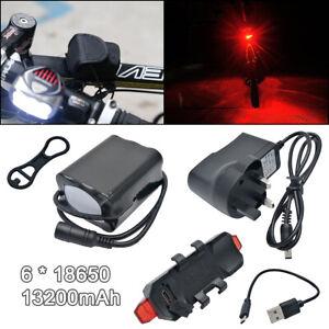 RéAliste Dc 8.4 V 13200 Mah Rechargeable 6*18650 Batteries Pack Pour Cree T6/u2 Bike Lights-afficher Le Titre D'origine