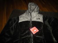 Girls Tnf Black & Gray The North Face Reversible Coat, Size S