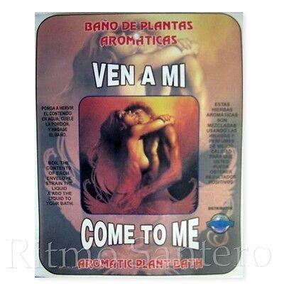 SPIRITUAL PLANT BATH: COME TO ME- VEN A MI Bano Despojo Limpia Santeria ifa herb