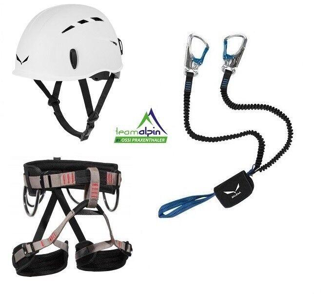 Klettersteigset Salewa Premium Attac + LACD Start Gurt + Salewa Toxo Helm