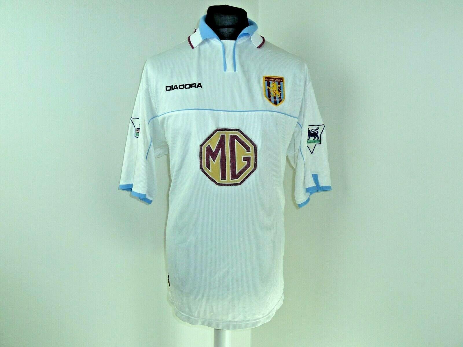 Aston Villa Trasferta Calcio Camicia 2002  2003 117122cm Premier League Patch