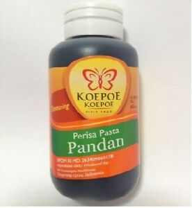 60 ML Koepoe Koepoe Pandan Flavoring Paste Food Coloring Flavouring ...