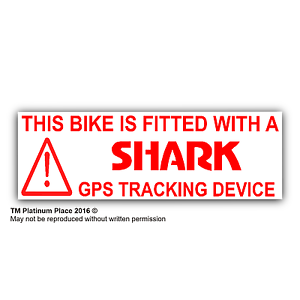 5 x Bike Fitted With GPS Tracking Device Warning StickersSign