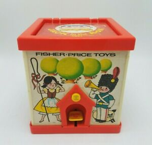 Vintage-1970-Fisher-Price-Toys-Jack-In-The-Box-Puppet-Toy-138-Made-In-The-USA