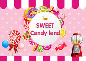 9x6ft Sweet Candy Land Party Decor Photography Background Photo