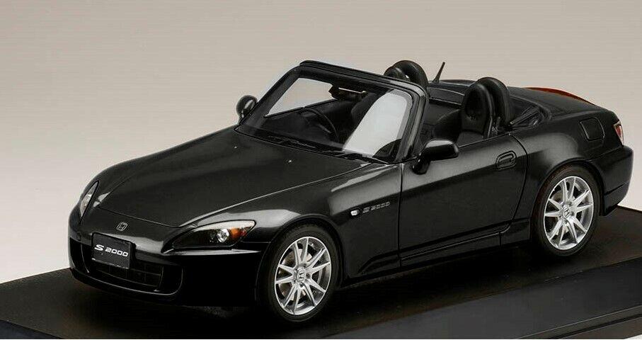 Hobbyjapan HJ1810BK 1 18  HONDA S2000 (AP1-200) BERLINA Modèle Noir voitures  plus abordable