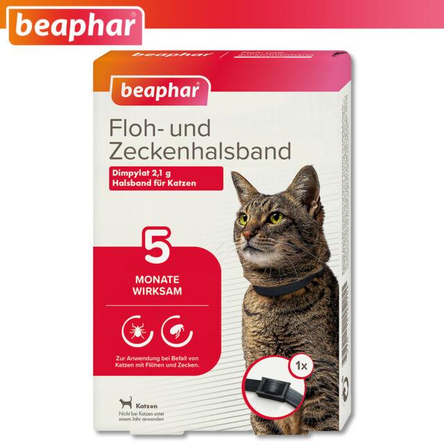 Beaphar 1 x Floh- und Zeckenhalsband für Katzen | 35 cm  | 5 Monate wirksam