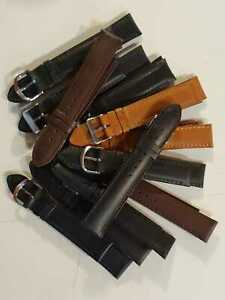 Uhrenbaender-Leder-Herren-20mm-12-Stueck