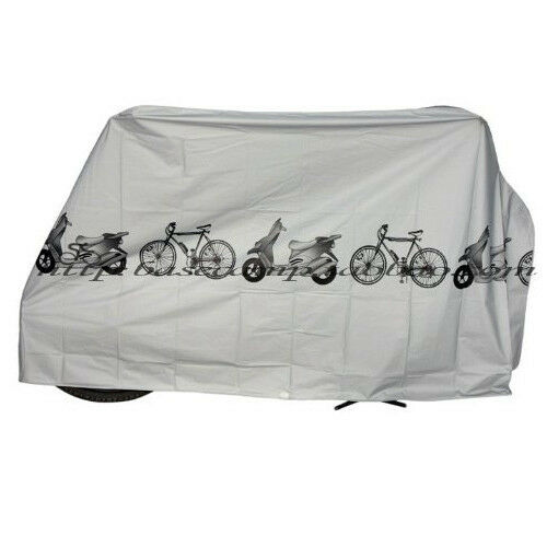 Grey Polyester Waterproof Bike Motorcycle Bicycle Protector Case Cover(Size:L)