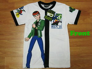 TEE-SHIRT-BEN-10-ALIEN-FORCE-9-10-ans-ML-QUALITE-imprime-2-faces-differentes
