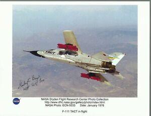 "Nasa AFTI F-111A ""Aardvark"" Testpilot Stanley Boyd original signed Photo USA"