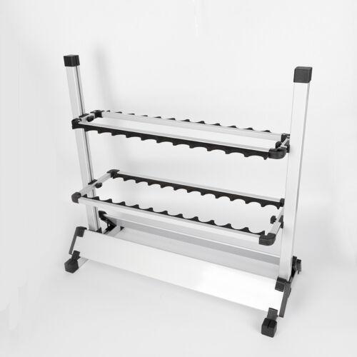 Nagelneu Aluminiumlegierung Rutenständer Angelruten 24 Ruten Angelrutenständer