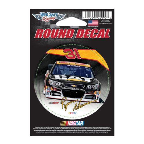 "Ryan Newman CAT Round Vinyl Decal 3/"" x 3/"" NASCAR"