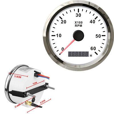 NEW Retro Marine Fuel Gauge 12 24 V Waterproof White dial UK Stock Free Post