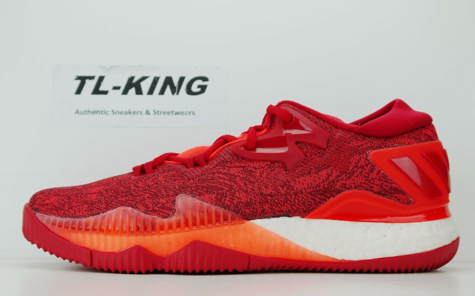 a56c8731f003 Adidas Crazylight Boost Low 2016 Continental Solar Red Scarlet White White  White B42389 DC 756ad9 ...