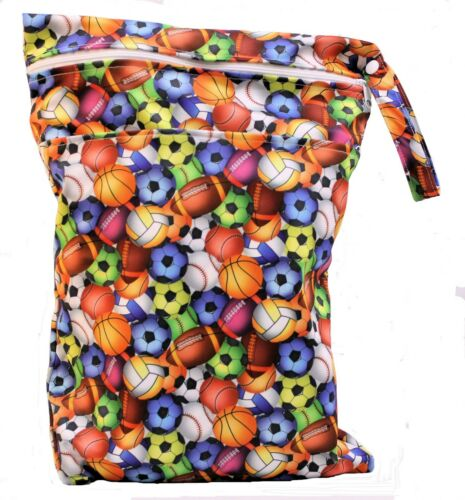 Wet Bag Double Zip for Babies Cloth Nappy Bags Diaper Wipes Swimwear Beach bag