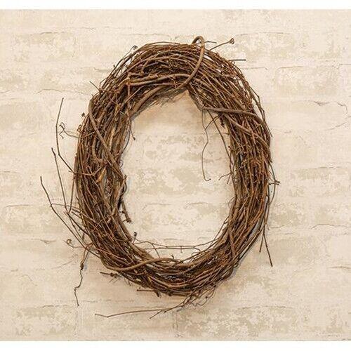 Natural Grapevine Wreath  Primitive Country Farmhouse Wall Wedding Craft Decor