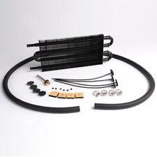 Universal Full Aluminum Remote Transmission Oil Cooler Kit Auto/MT Radiator