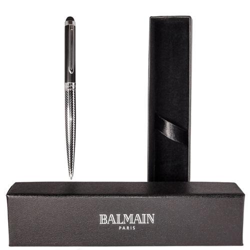 Box Balmain Empire Stylus Kugelschreiber Farbe Schwarz Metall Mit GRAVUR