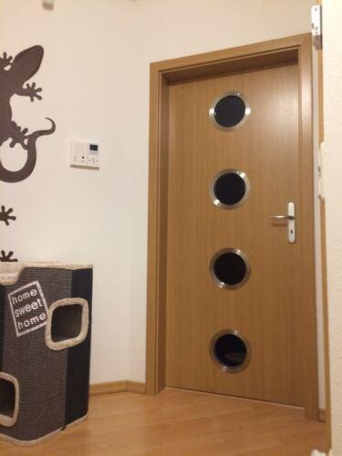Türbullauge 45cm Edelstahl POLIERT Zimmertür Bullauge Rundfenster edles Design