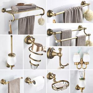 Antique Brass Carved Bathroom, Bathroom Accessories Towel Racks