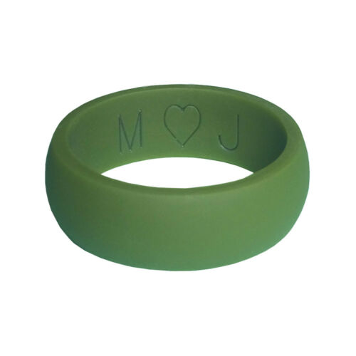 Word PERSONALIZED Name or Date Engraved! Custom Silicone Wedding Ring
