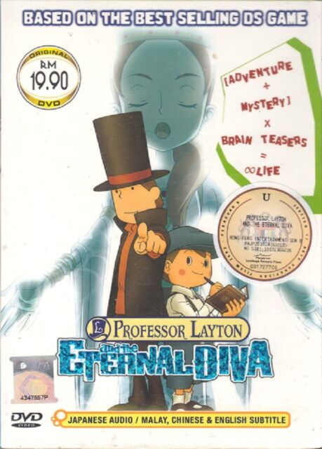 Dvd Anime Professor Layton And The Eternal Diva The Movie English