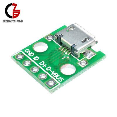 5pcs DIY Power Micro USB Female to DIP 5 Pin Adapter Converter 2.54mm PCB Board
