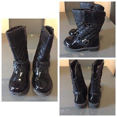 EU Size 23 Uk 6 Infant Black Boots (P13