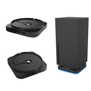 Vertikaler-Staenderhalter-Blu-ray-Dock-Base-4-USB-HUB-fuer-Xbox-Series-X-Console