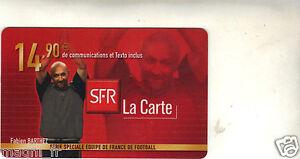 Telefonkarte - Serie Equipe De France Von Fußball - Fabien Barthez (A2950)