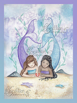 Dream Bohemian Mermaid Print from Original Painting By  Camille Grimshaw