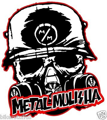METAL MULISHA WITH MASK SKULL BUMPER STICKER TOOL BOX STICKER LAPTOP STICKER