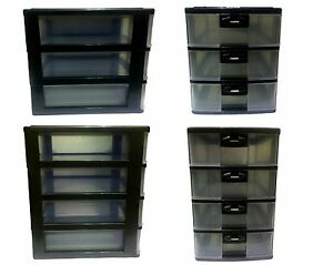 3-or-4-Levels-Drawer-Desk-Plastic-Storage-Unit-A4-Tower-Unit-Document-Organize
