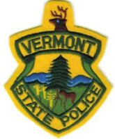 Vermont State Police Embroidered Shoulder Patch - Iron-on --