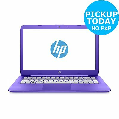 HP Steam 14 Inch Celeron N3060 1.6 GHz 4GB 32GB eMMC Laptop - Purple.