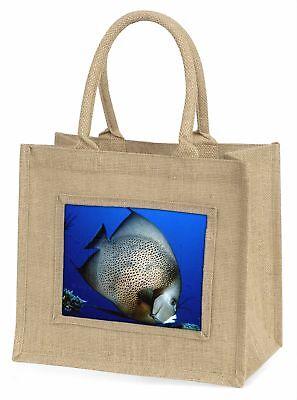 Funky Fisch Große natürliche jute-einkaufstasche Weihnachten