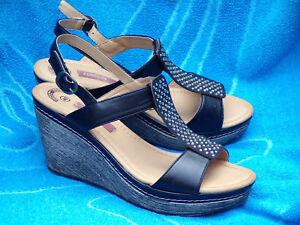 Sur NoirStrass Chaussures A Sandales Compenses Ete Talon Détails Tbe Footside Femme P40 76bfgvyY
