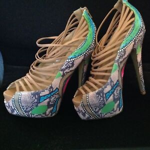 827c4058461 Image is loading ROSETTE-Platform-Stiletto-Heels-Shoes-ELLE-32Club-wear-
