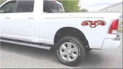 "4x4 Sticker Decal 3"" x 10"" (2) Dodge Ram Truck"